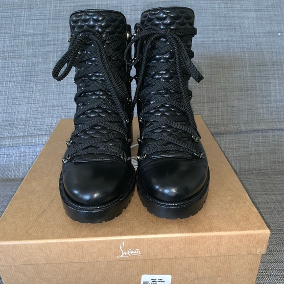free shipping 21a6c 0137d Christian Louboutin MADD combat boot